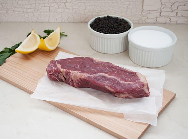 Grass Fed Dry Aged NY Striploin Steak (Frozen)