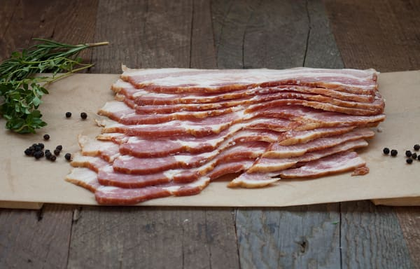 Fresh, Sliced Bacon