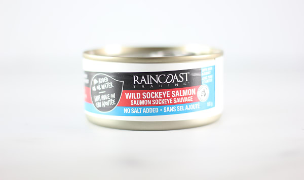 Canned Sockeye Salmon, No Salt