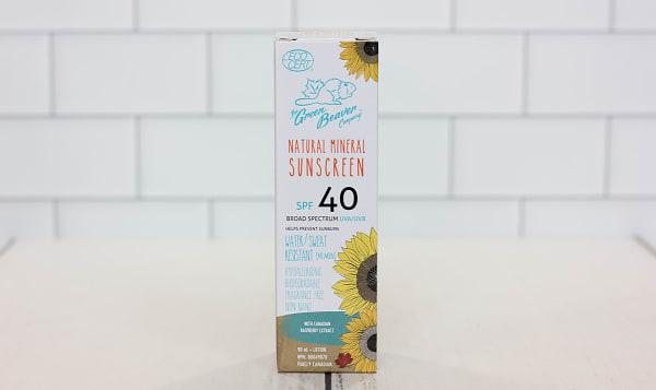 Organic Adult SPF40 Sunscreen