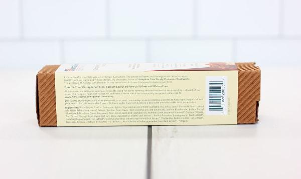 Organic Complete Care Toothpaste Cinnamon