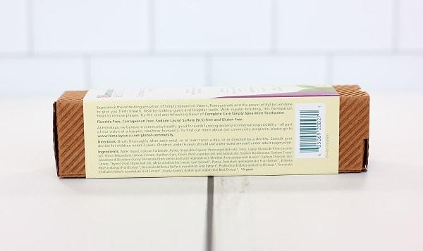 Organic Toothpaste Spearmint