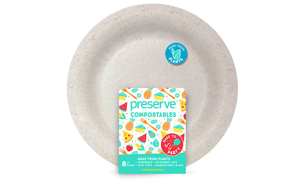 Compostable Large Plates - Natural