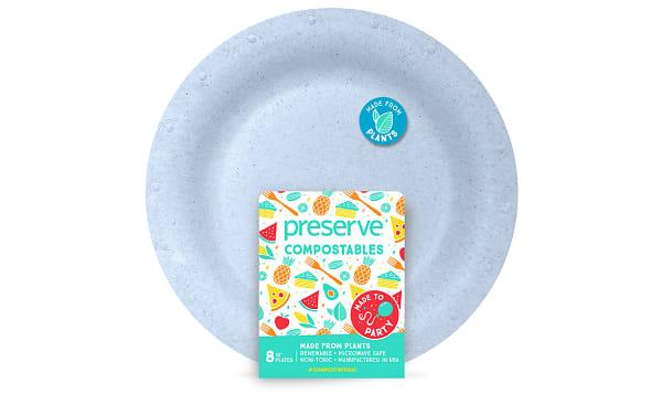 Compostable Large Plates - Blue