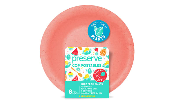 Compostable Bowls - Red