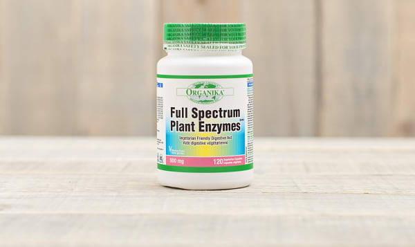 Organika Full Spectrum Plant Enzymes - 500mg, 120vcaps   Shop at