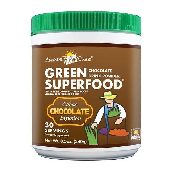 Organic Chocolate Green Super Food Powder