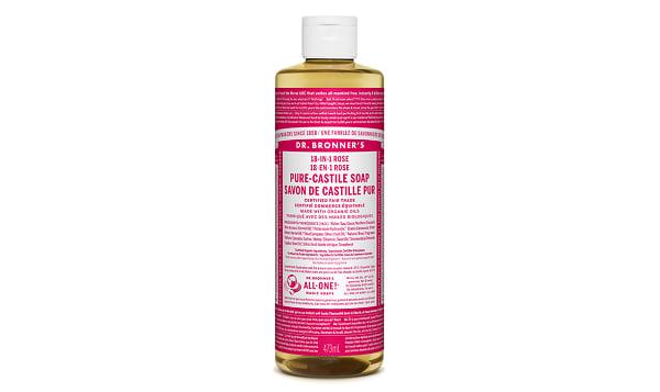 18-in-1 Hemp Pure-Castile Soap - Rose