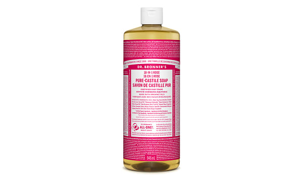 18-in-1 Hemp Pure-Castile Soap - Rose