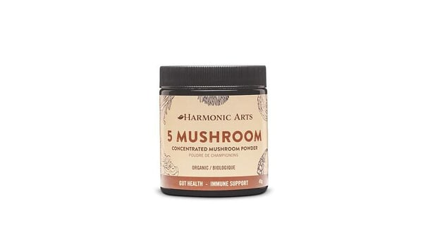Organic 5 Mushroom Concentrated Mushroom Powder