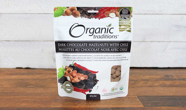 Organic Dark Chocolate Covered Hazelnuts With Chili