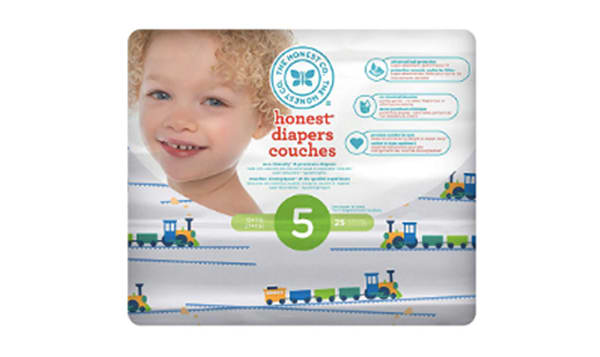 Diapers Size 5; Trains