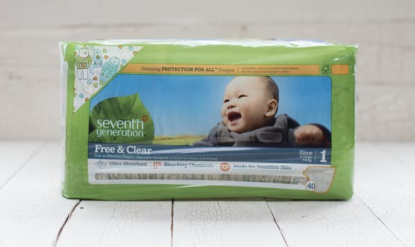 Organic Disposable Diapers (Stage 1) 4-6 kg, 8-14 lbs