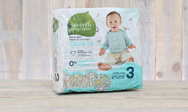 Disposable Diapers (Stage 3) 7-13 kg, 16-28 lbs