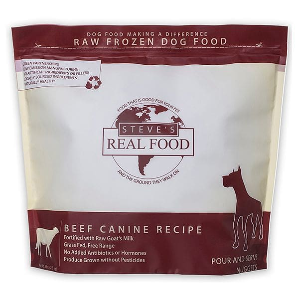Raw Grass-Fed Beef Nuggets for Dogs (Frozen)