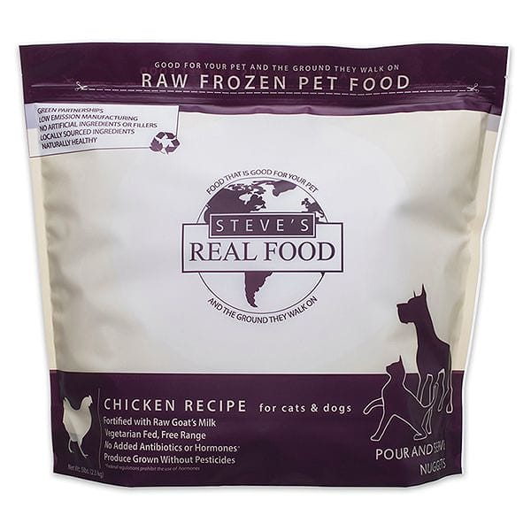 Free Range Raw Chicken Nuggets for Dogs & Cats (Frozen)