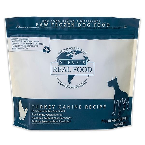 Free Range Raw Turkey Nuggets for Dogs (Frozen)