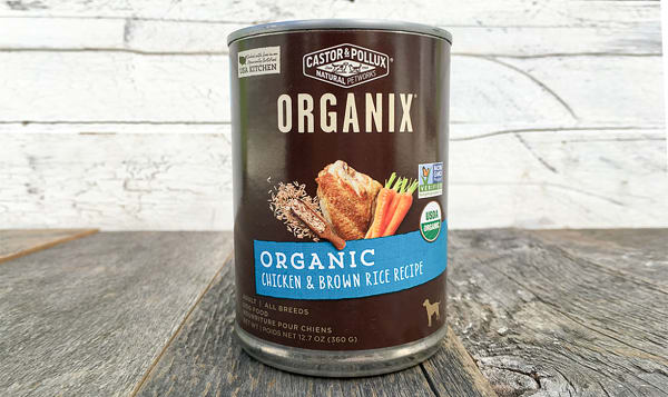 Organic Canned Chicken & Brown Rice Dog Food