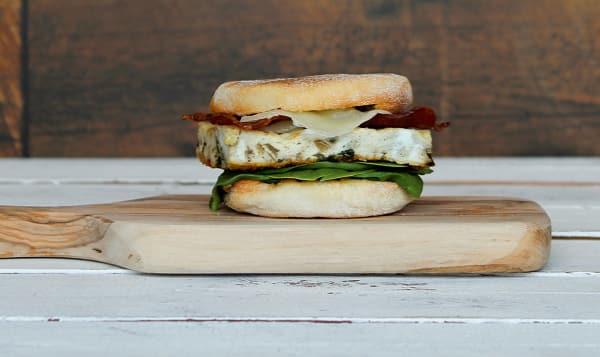 Breakfast Sandwich, Turkey Bacon