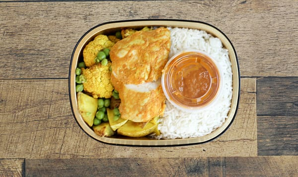 Butter Chicken with Turmeric Roasted Vegetables & Basmati Rice