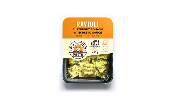 Butternut Squash Ravioli with Pesto - Heat & Serve
