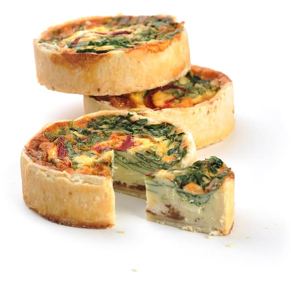 Roasted Red Pepper & Goat Cheese Quiche (Frozen)