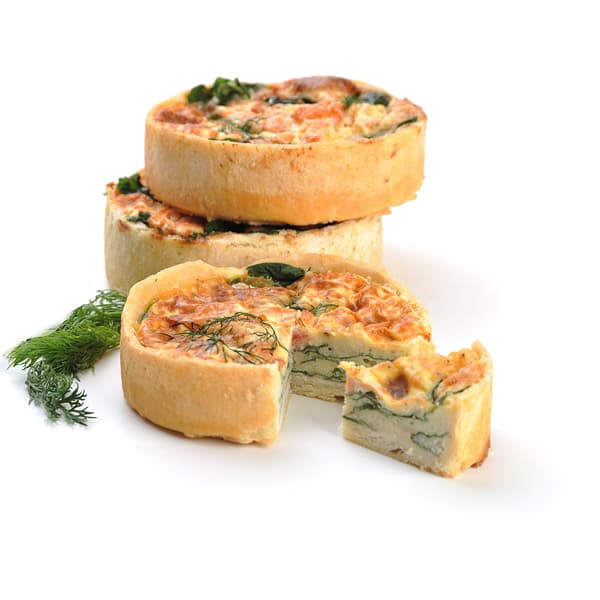 Smoked Salmon & Dill Quiche (Frozen)
