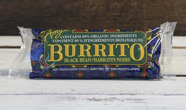 Organic Black Bean & Vegetable Burrito (Frozen)