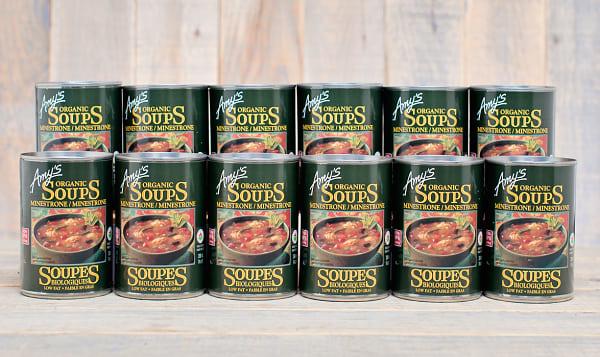 Organic Minestrone Soup - BPA Free - CASE