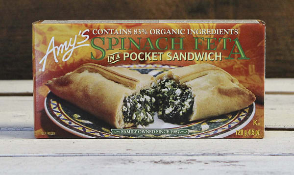 Organic Spinach Feta Pocket, Frozen (Frozen)