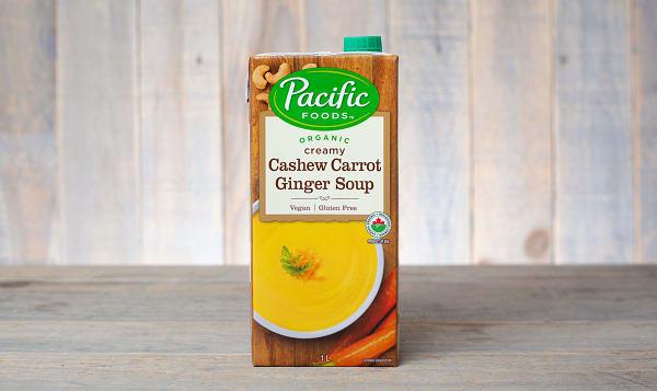 Organic Cashew Carrot Ginger Soup