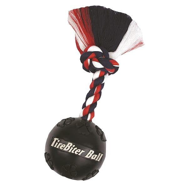 Tirebiter Ball with Cotton Rope - 12