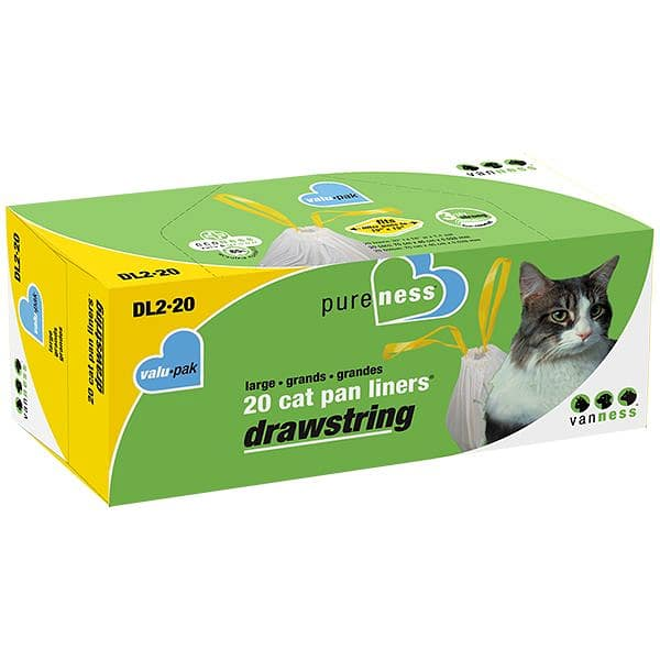 Drawstring Litter Pan Liners - Large