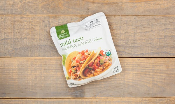 Organic Simmer Sauce - Mild Taco