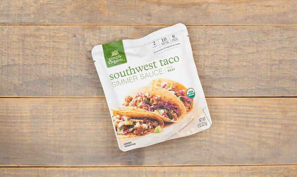 Organic Simmer Sauce - Southwest Taco
