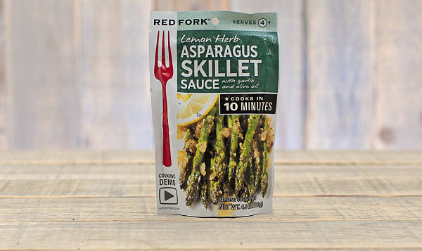 Asparagus Skillet Sauce With Garlic And Olive Oil