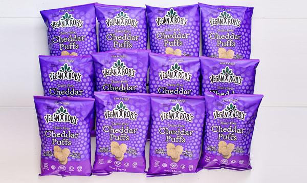 Dairy Free Cheddar Puffs - CASE