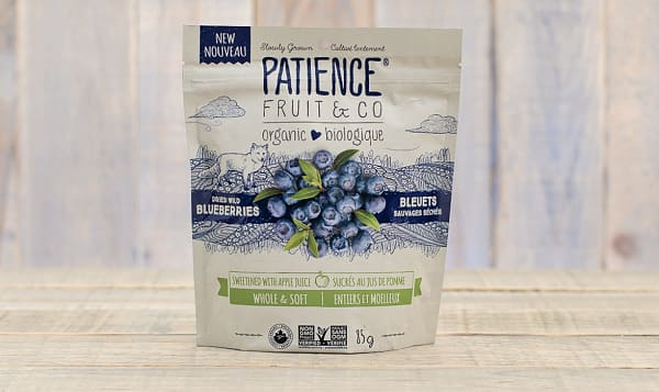 Organic Dried Wild Blueberries Sweetened With Apple Juice