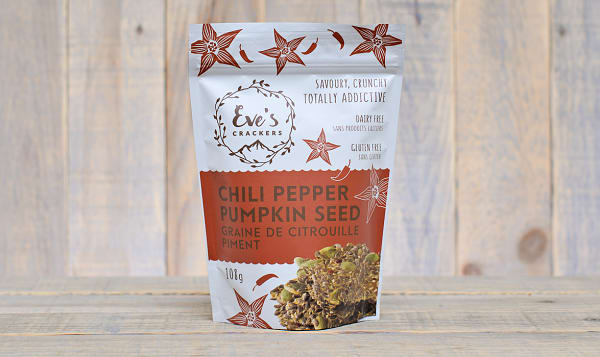 Chili Pepper Pumpkin Seed Crackers