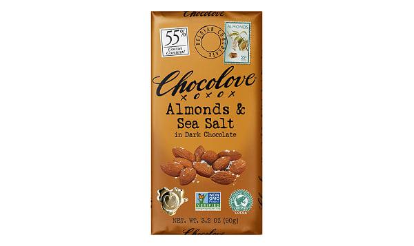 Chocolate Bar - Almond Sea Salt 55%