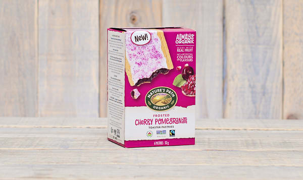 Organic Frosted Cherry Pomegranate Toaster Pastries