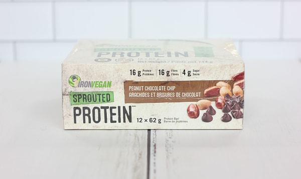 Sprouted Protein Bar - Peanut Chocolate Chip -Case