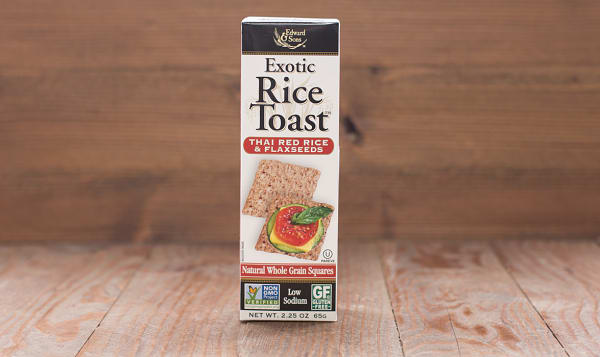 Exotic Rice Toast - Thai Red Rice & Flaxseeds