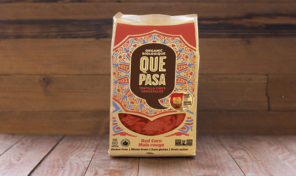 Organic Red Corn Tortilla Chips, Salted