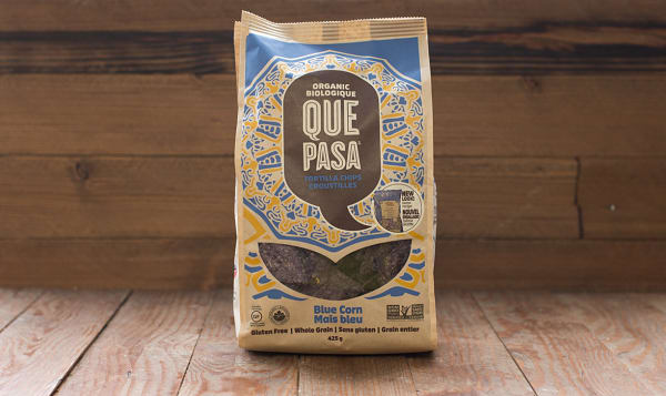 Organic Blue Corn Tortilla Chips, Salted