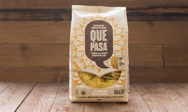 Organic Tortilla Chips, Unsalted