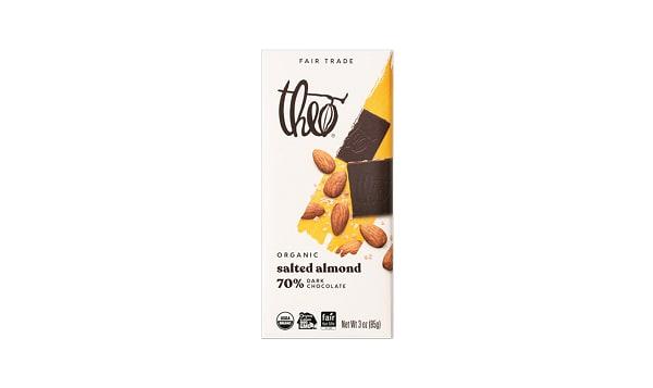 Organic Chocolate Bar - 70% Salted Almond
