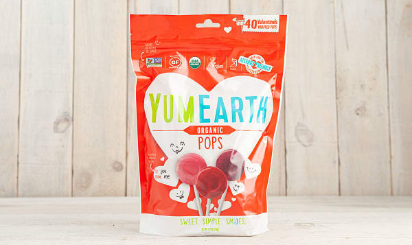 Organic Valentine's Fruit Pops