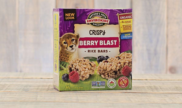 Organic Crispy Rice Bar Cheetah Berry
