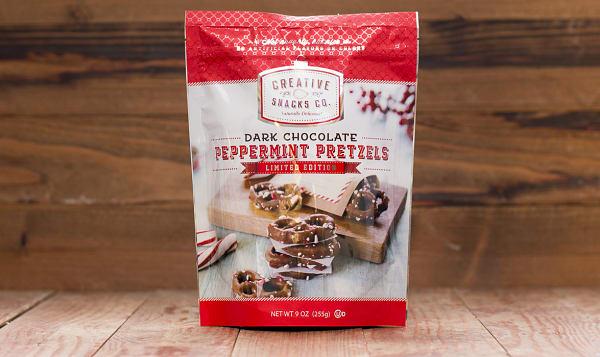 Peppermint Dark Chocolate Pretzels